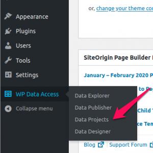 WP Data Access - Data Projects