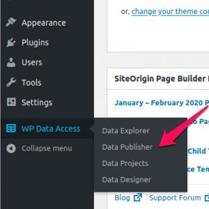 WP Data Access - Data Publisher