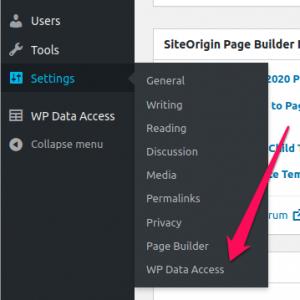 WP Data Access - Plugin Settings